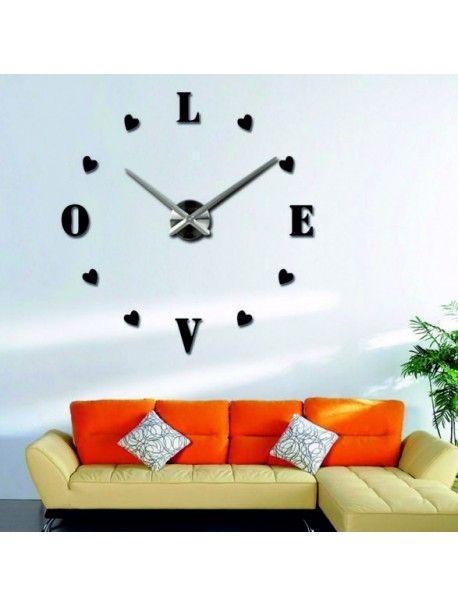 Nejširší nabídka hodin v různých barvách pro dokonalou stěnu. Elegantní nalepovací hodiny. Nástěnné hodiny na zeď jsou vybaveny kvalitním strojkem na akumulátorovou baterii AA 1.5 v, který se vyznačuje tichým chodem. Obal strojku a ručičky hodin jsou vyrobeny z pevné oceli, které se jednoduše upevní na stěnu. Instalace je velmi jednoduchá a stane se hobby každé hospodyňku v domácnosti. Zbytek komponentů v podobě číslic stačí nalepit na stěnu, protože jsou opatřeny z vnitřní strany…