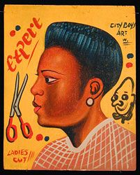 Indigo Arts Gallery | African Barber Signs | Ghana 2 - Archive