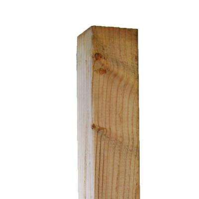 Pressure-Treated Timber #2 Hi-Bor (Common: 4 in. x 4 in. x 8 ft.; Actual: 3.56 in. x 3.56 in. x 96 in.)