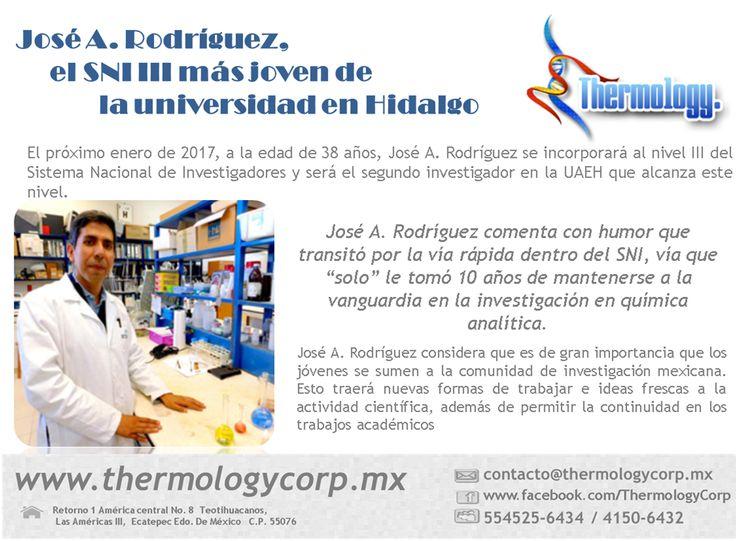 ¡Muchas felicidades! Apoyemos el talento mexicano... http://www.conacytprensa.mx/index.php/sociedad/personajes/11419-jose-a-rodriguez-el-sni-iii-mas-joven-de-la-universidad-en-hidalgo