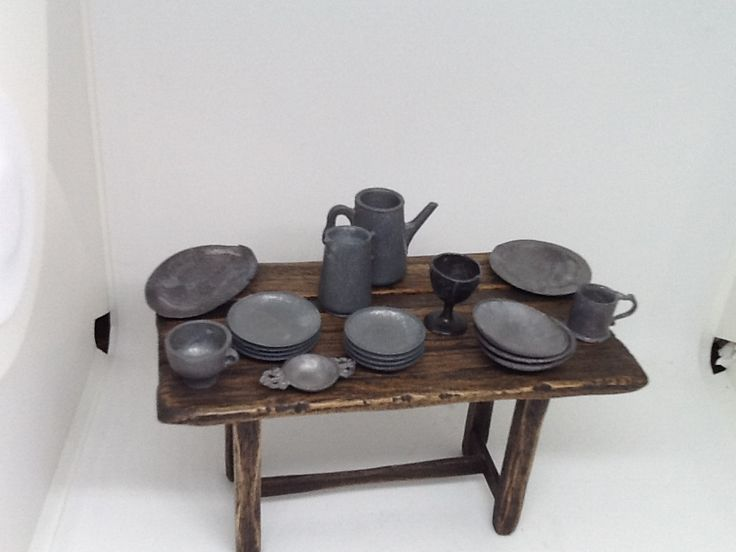 Pewter table ware made by Tony Knott .       For sale