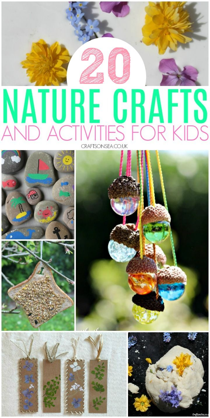 20 Easy and Fun Nature Crafts and Activities for Kids