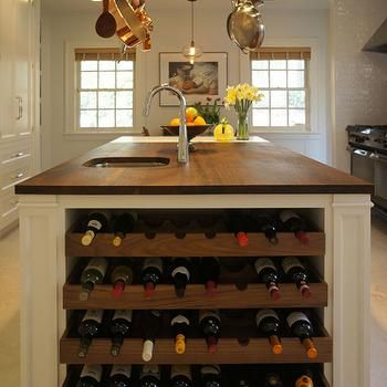 Kitchen Island Wine Rack