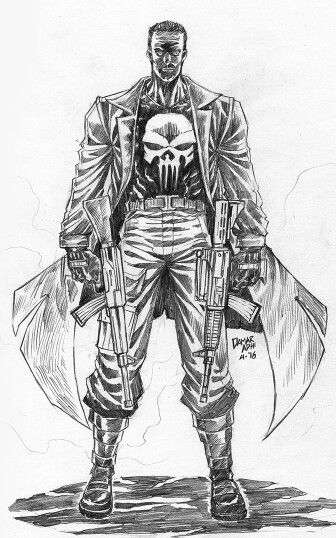 #punisher #marvel #comics #fanart #pencil