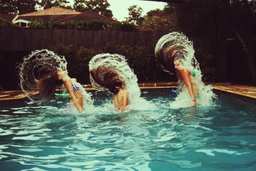 mermaid hair flip.....