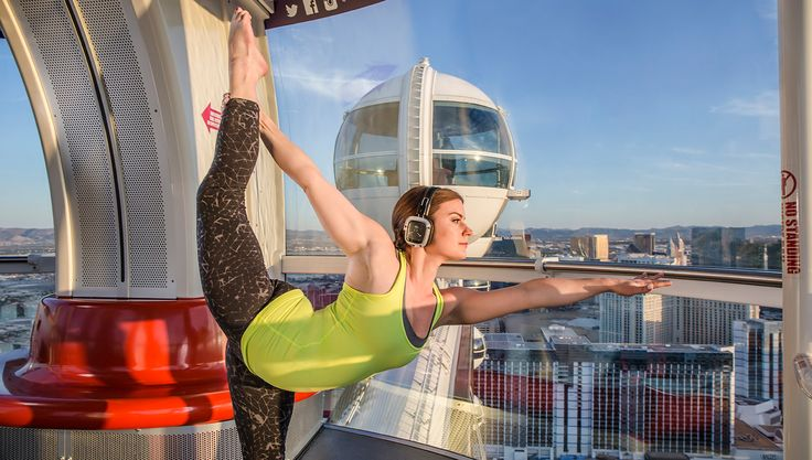 Yoga on the High Roller Ferris Wheel | 6 New Ways to Practice Yoga