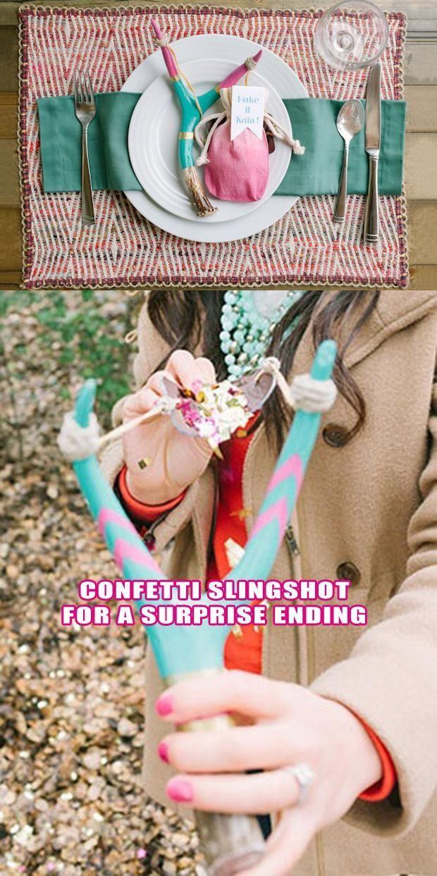 tirachinas para el confetti!! #ideasoriginales para tu boda