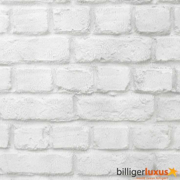 13 best Steinwand images on Pinterest White bricks, Brick wall - stein tapete wohnzimmer ideen
