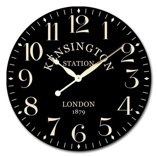 Round Industrial 30cm Kensington Station London Wall Clock - Wall Clocks - Lifestyle Lane
