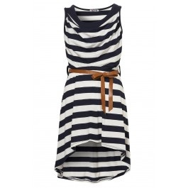stripes + cowl neck