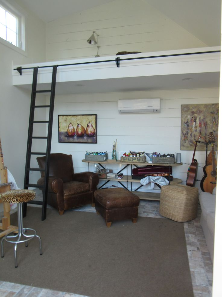 L and L of Raleigh She Shed Remodel by Jeff Maurer Music Room, Art Studio, Loft