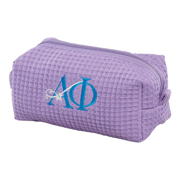 small waffle weave cosmetic bag cbw003 promotional bath spa embroidery