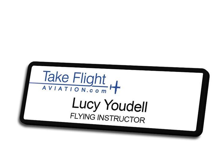 Take Flight Aviation Name Badge