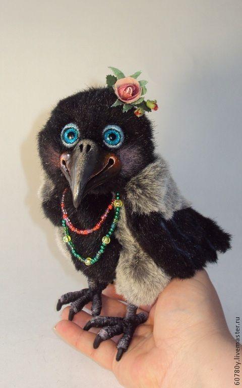 Купить Ворона Розочка. - черный, серый, ворона, ворон, вороны, птица, цыганка, табор, цыган