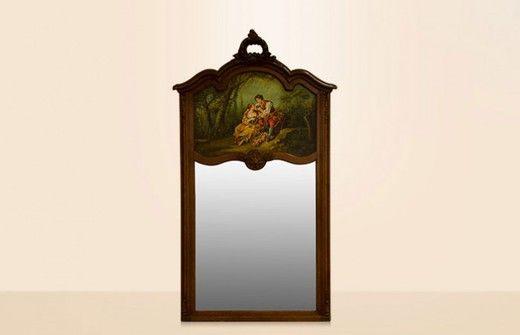 «BersoАнтик» - Старинное зеркало с живописью