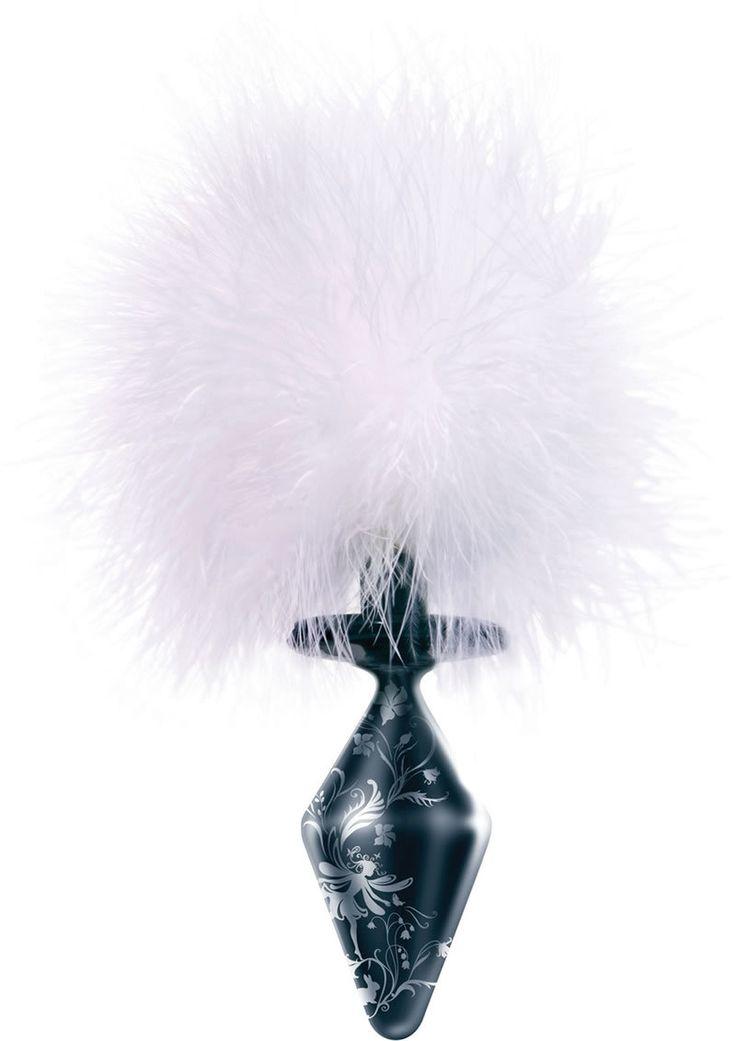 Fashionistas Black Glass Bunny Tail Large from www.mysextoydeals.com