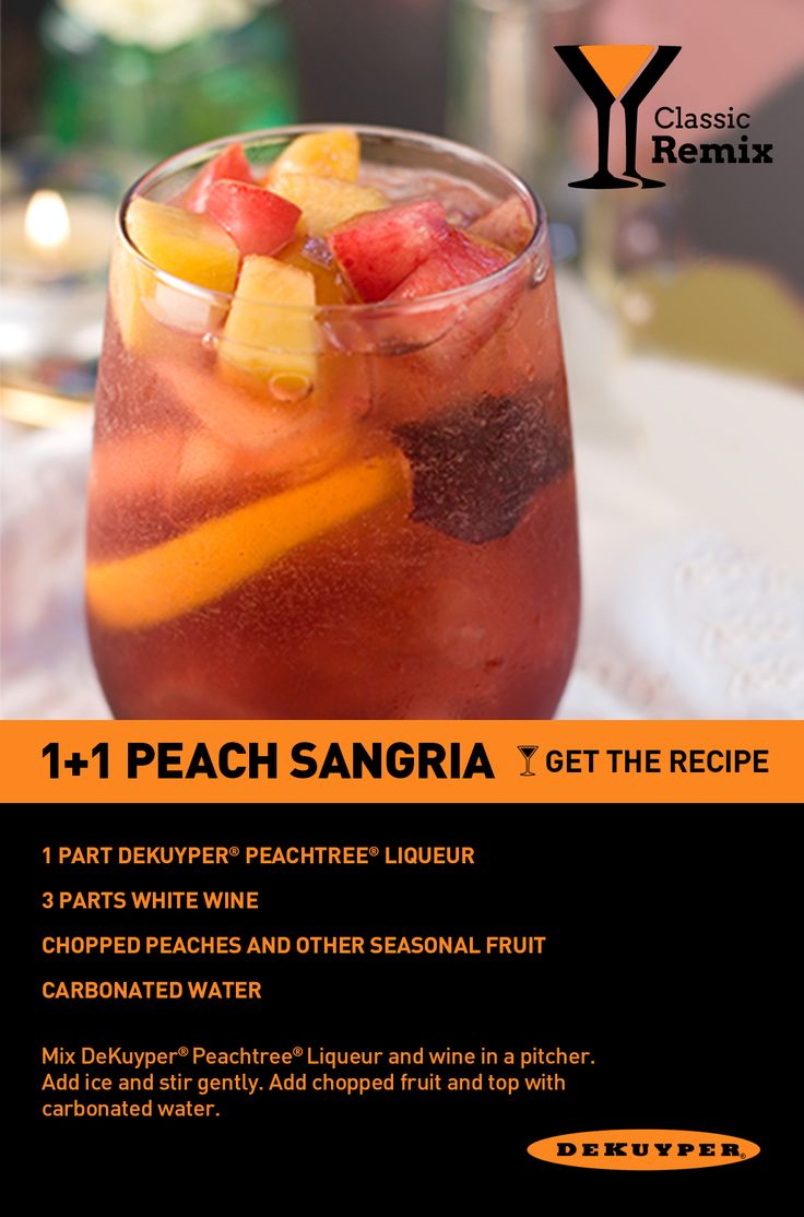 Nothing says #summer like peaches! A simple sangria made with Peachtree.