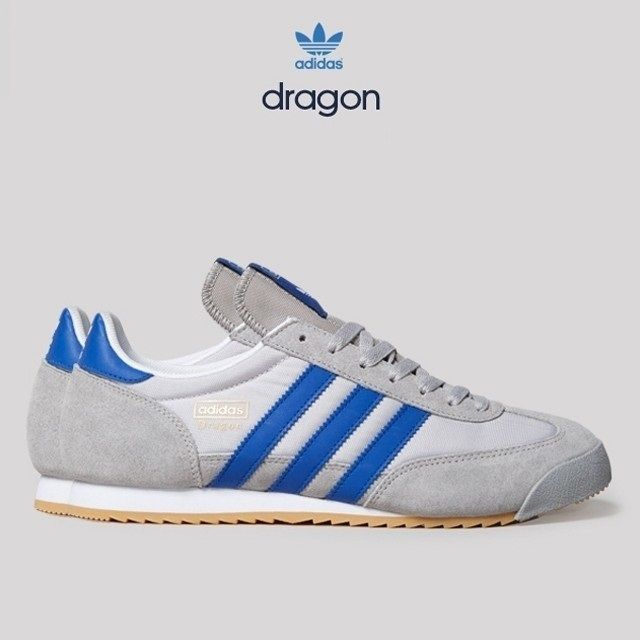 blue adidas dragon trainers
