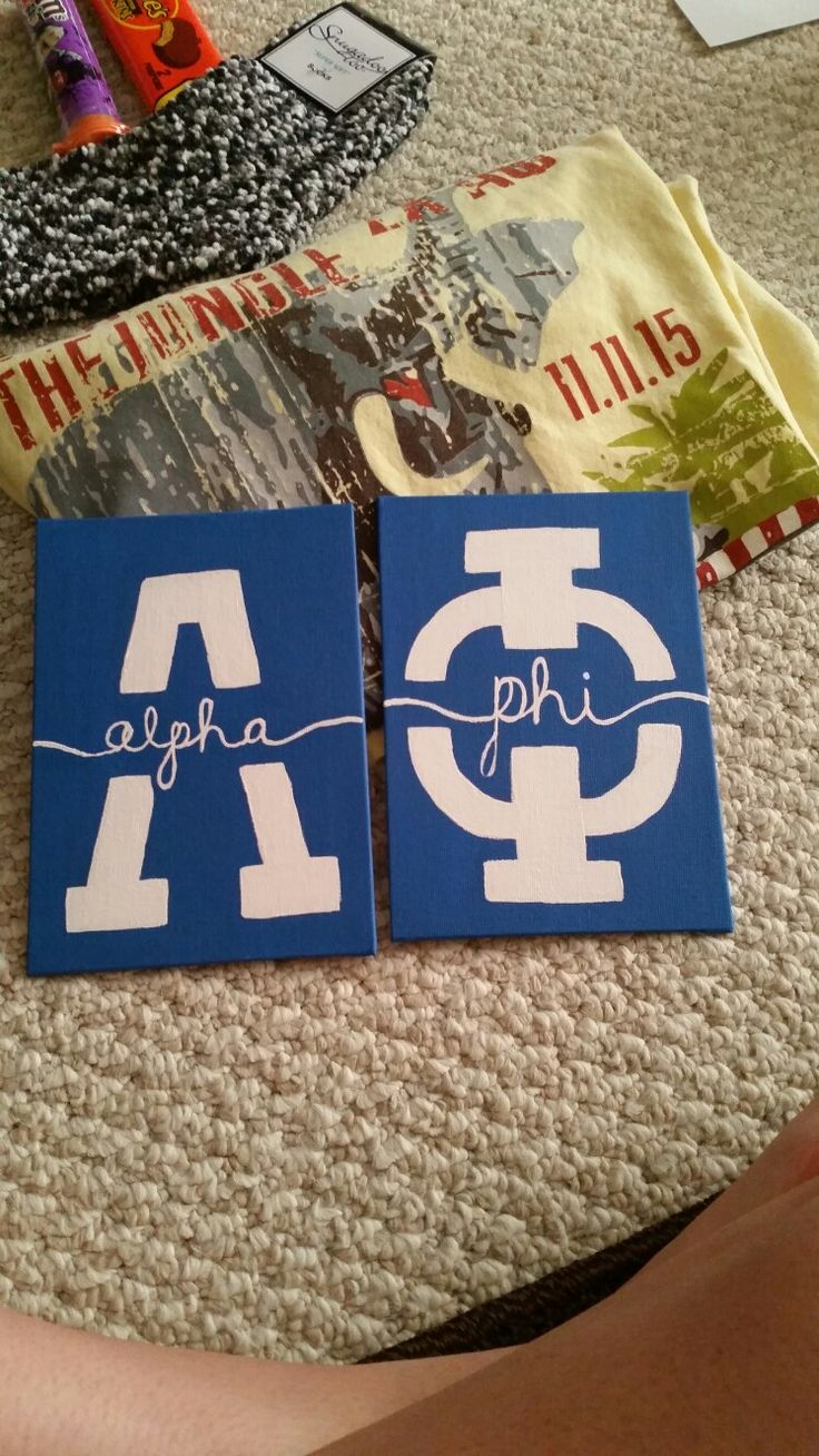 Alpha Phi big little sorority craft!