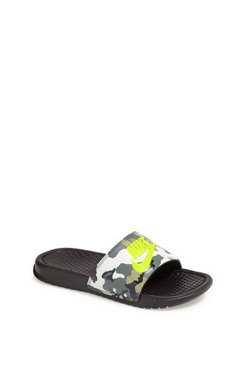 Nike 'Benassi - Just Do It' Camo Print Sandal (Toddler, Little Kid & Big Kid) | Nordstrom