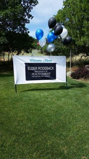 Welcome Home Elder Banner | www.signs.com #sign #missionary