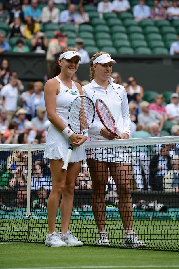 Agnieszka Radwanska and Angelique Kerber Wimbledon 2012. http://1502983.talkfusion.com/product/