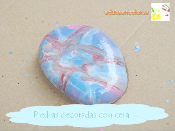 Hoy: decorar piedras con ceras