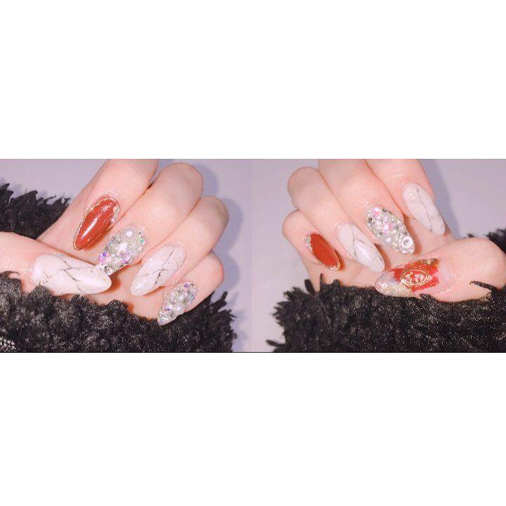 NewNail         #newnail #new#nail #nailstagram #nailart #salon #nailsalon #ネイルデザイン #ネイル#ネイルサロン #サロン#成人式ネイル #チップ#長さ出し #大理石ネイル #大理石 #ストーンネイル #ジェルネイル #winered  #white#gold