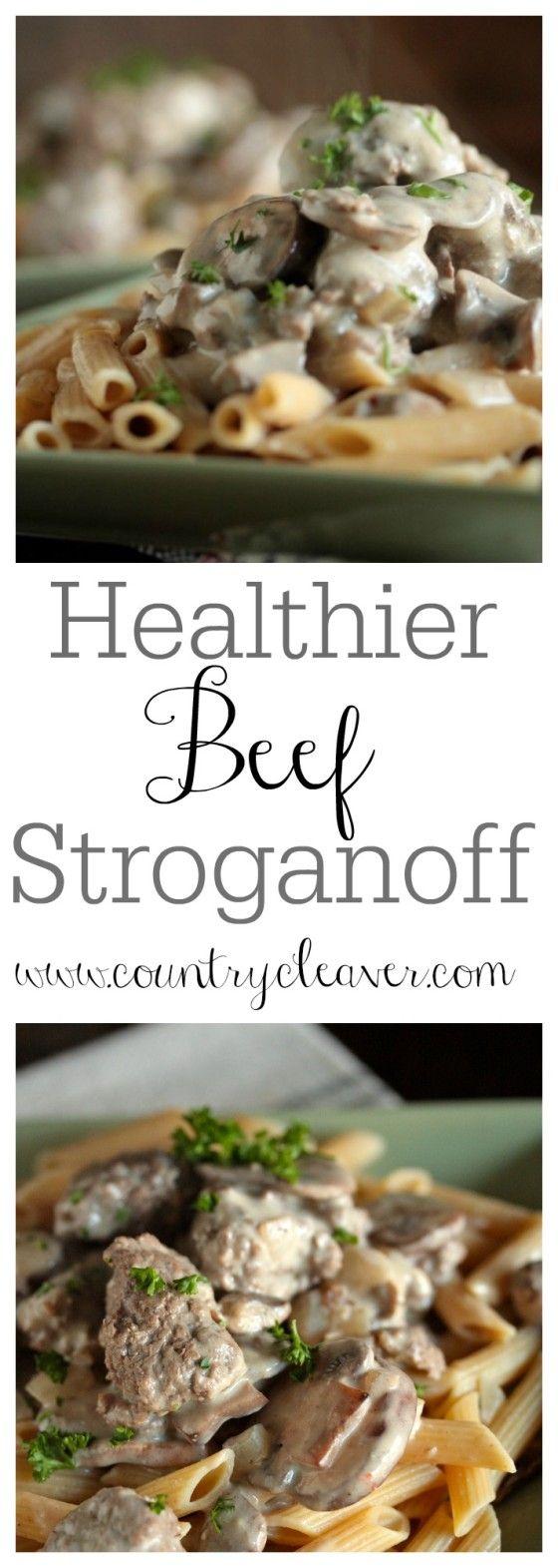 Healthier Beef Stroganoff