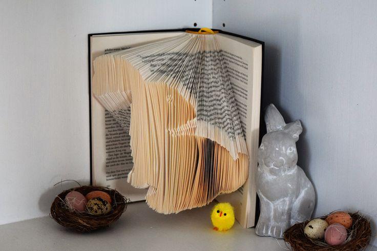 Bücher falten: Osterhase