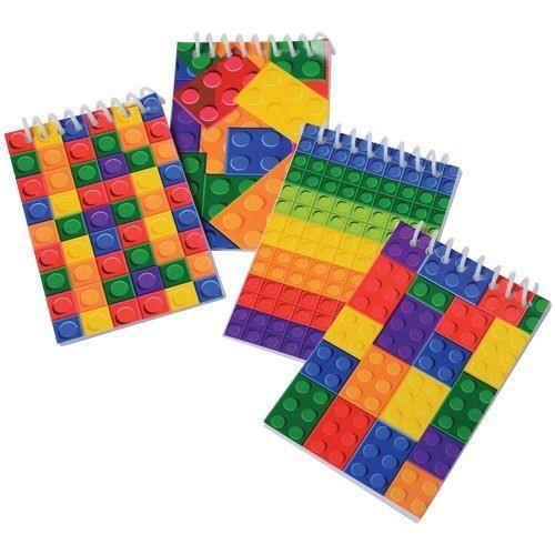 [12-Pack] Block Mania Mini Notebooks