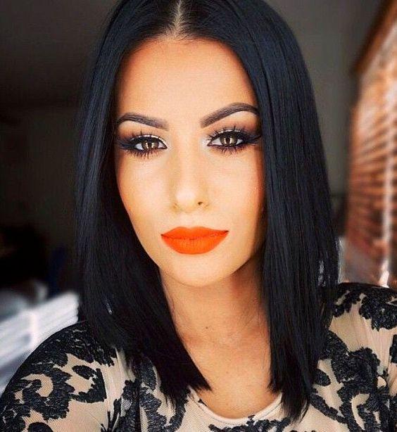 Beauty Lover: Look 83: Black hair com batom laranja