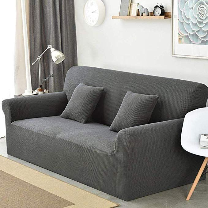 Sancua Stretch Spandex Sofa Cover 3 Seat Couch Cover Anti Slip Sofa Slipcover With Elastic Bottom For Livin Cushions On Sofa Slip Covers Couch Slipcovered Sofa