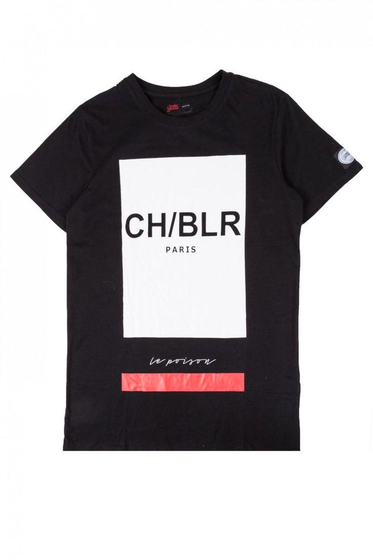 T-shirt CH/BLR noir Sixth June 295VT - T-shirt - Homme
