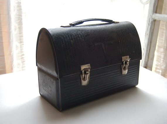 Vintage Lunch Box. My dad always carried this lunch pail with the thermos in the top.
