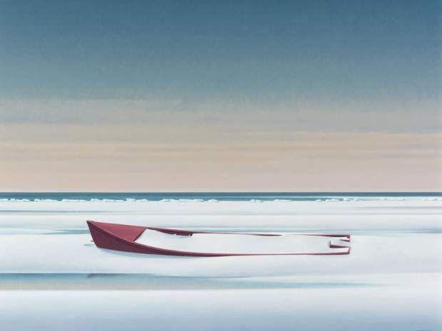 Christopher Pratt's 'The Red Boat, 2011.'
