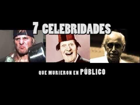 Top 7 Casos de Celebridades que Murieron en Público