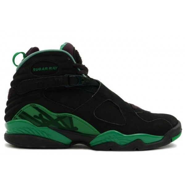 finest selection 342fc 649a0 Air Jordan 8 (VIII) Retro PE Sugar Ray Allen (Black Stealth Clover) ...
