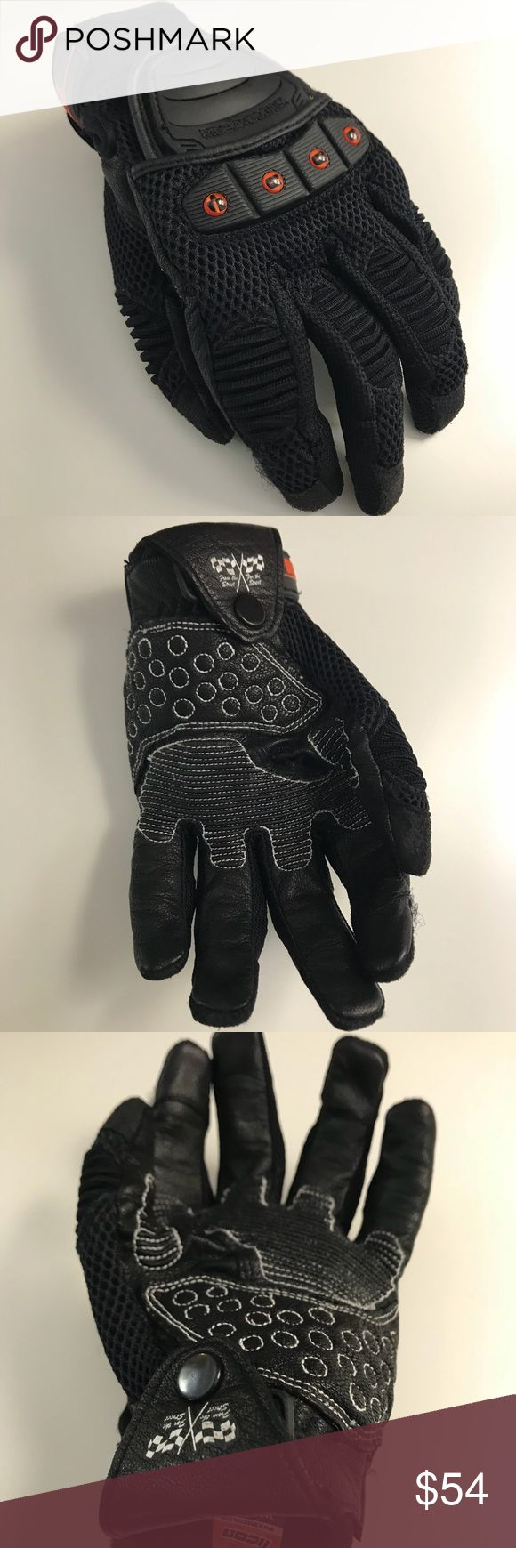 Icon motorcycle riding gloves Brand new Icon motorcycle riding gloves. Men's size small. Feel free to make an offer. ICON Accessories Gloves