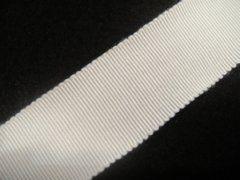 Petersham Ribbon - White