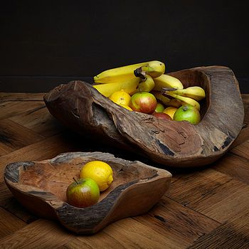 I would love to have these beautiful handcarved bowls craddling my fruit on my counter :)