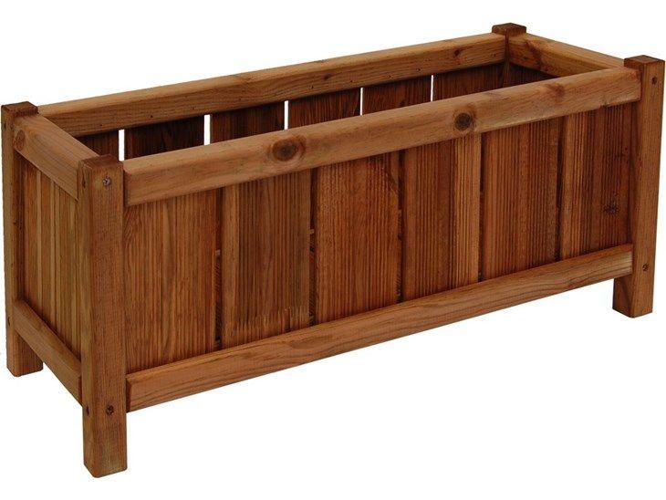Donica drewniana 270 x 650 mm impregnacja brąz