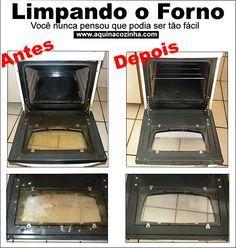 Limpando o forno Como limpar o forno facilmente