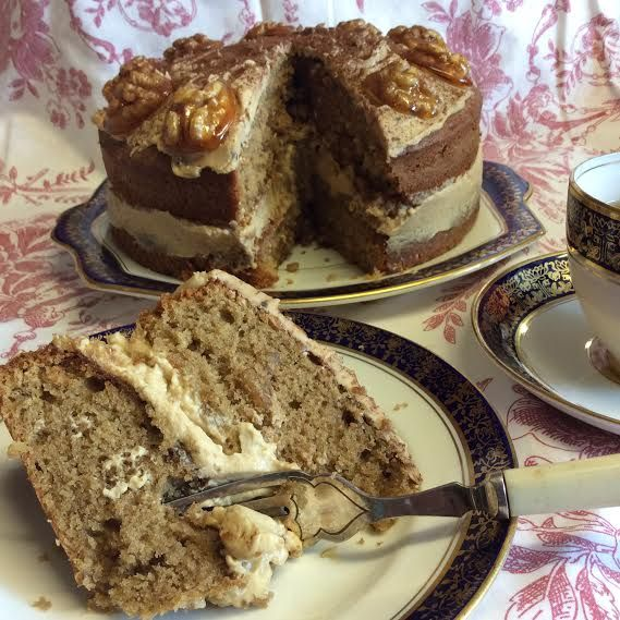 the BEST Coffee and walnut cake - The baking lady