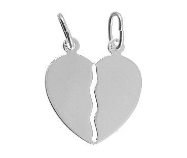 Törhető ezüst szívmedál