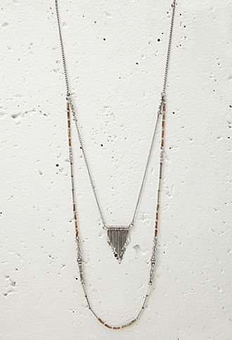 Beaded Layered Necklace | Forever 21