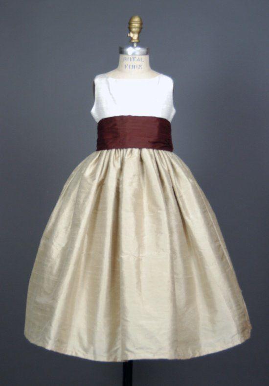 Elizabeth St. John Children Miranda Ivory Flower Girl Dress