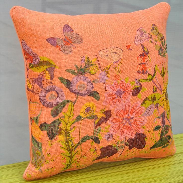 Soothing Orange Flowery Cushion - Printed Cushions - New