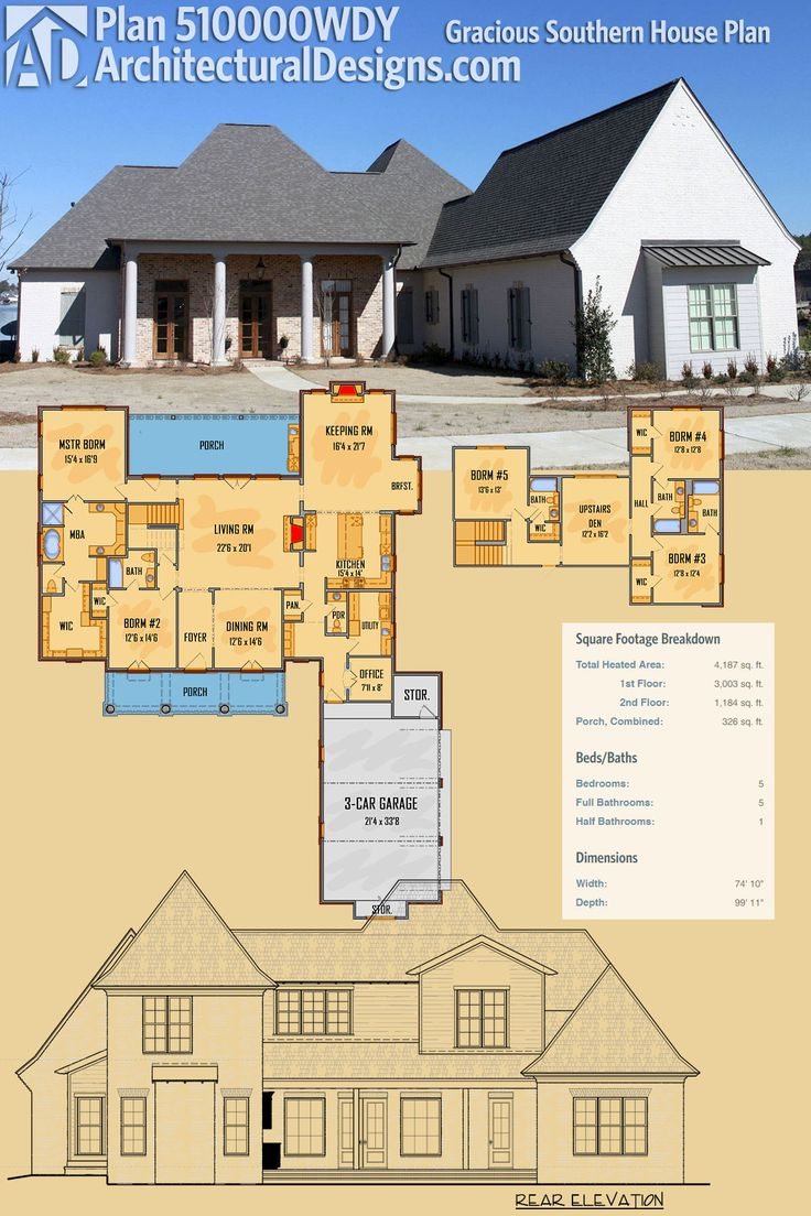 159 best acadian style house plans images on pinterest for Southern home plans designs