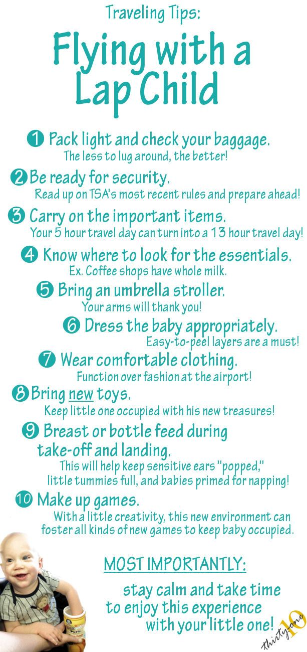 Tips for Flying with a Lap Child -- Great ideas!!